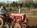 Derek on the Farmall